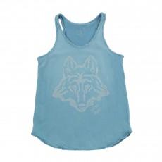 Débardeur Loup Bleu turquoise