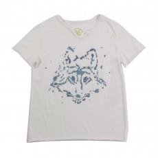 T-shirt Loup Blanc