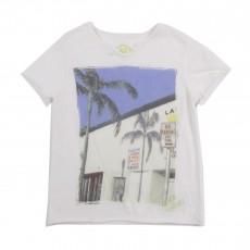 T-shirt Miami Palmiers Blanc
