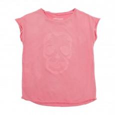 T-shirt Tête De Mort Rose