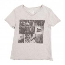T-shirt Photos Gris chiné