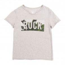 """T-shirt """"Rock"""" Tropical Gris chiné"""