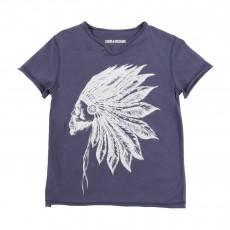 T-shirt Indien Bleu