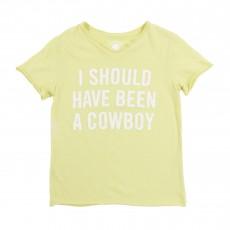 "T-shirt ""I Should Have Been A Cowboy"" Jaune pâle"
