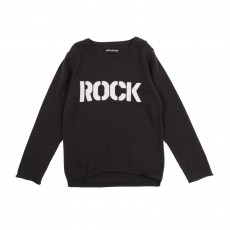 "Pull ""Rock"" Gris charbon"