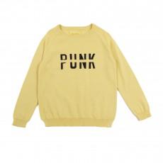 """Pull """"Punk"""" Jaune"""