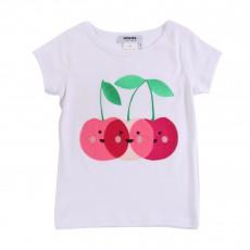 T-shirt Cerises Blanc
