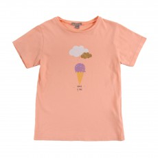 T-shirt Glace Summer Is Magic Rose pêche