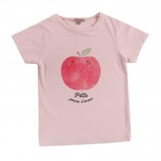 T-shirt Petite Pomme D'Amour Rose pâle
