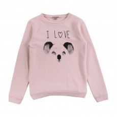 Sweat I Love Koala Rose pâle