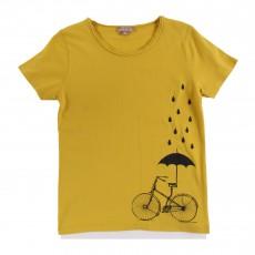 T-shirt Vélo Parapluie Ocre