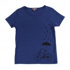 T-shirt Vélo Parapluie Bleu