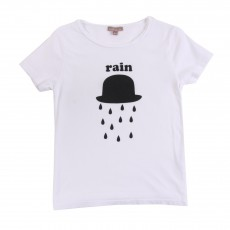 T-shirt Chapeau Rain Blanc