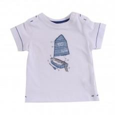 T-shirt Bateau Blanc