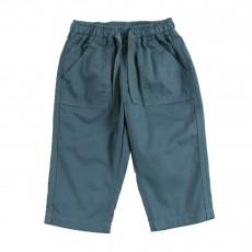 Pantalon Poches Dauphin  Bleu Vert