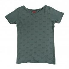 T-shirt Lunettes Bleu Vert