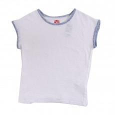 T-shirt Rayé Blanc