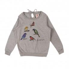 T-shirt Oiseaux Gris chiné