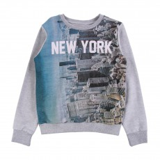 Sweat Molleton NY Gris chiné