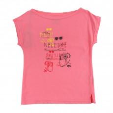 T-Shirt Imprimé Travel Rose