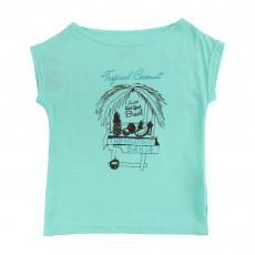 T-Shirt Imprimé Coconut Vert d'eau