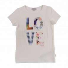 T-shirt Love Helee Blanc