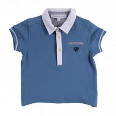 Polo Bicolore Bleu