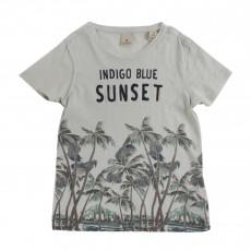 T-shirt Sunset Vert d'eau