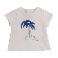 T-shirt Palmiers Blanc