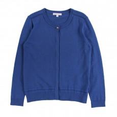 Cardigan Tricot Bleu électrique