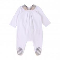 Pyjama Col Claudine Blanc