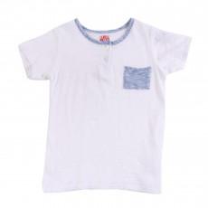 T-shirt Tunisien Poche Blanc