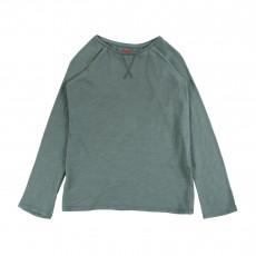 T-shirt Raglan  Bleu Vert