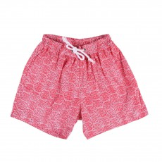 Short de Bain Bamboo Rouge brique