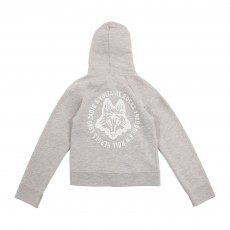 Sweat Capuche Dos Loup Gris chiné