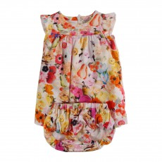 Ensemble Robe Bloomer Fleurs Huppie Multicolore