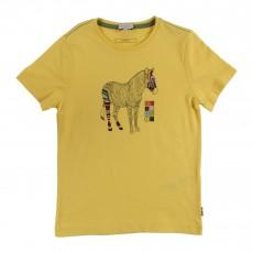 T-shirt Zèbre Hinderick Jaune