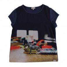 T-shirt Zèbre Heida Multicolore