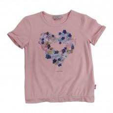 T-shirt Cœur Fleurs Hela Rose poudré
