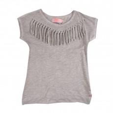 T-Shirt Franges Madisongi Gris chiné