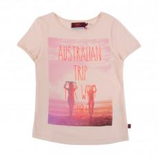 T-Shirt Surfaulia Rose pâle
