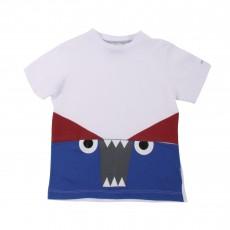 T-shirt Monstre Blanc