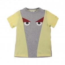 T-shirt Yeux Monstre Jaune