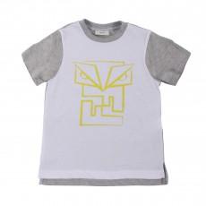 T-shirt Bicolore Monstre Blanc