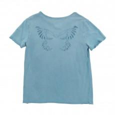 T-shirt Papillon Dos Bleu chiné