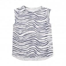 "T-shirt Zèbre ""Rock"" Dos Blanc"