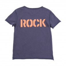 "T-shirt Dos ""Rock"" Bleu"