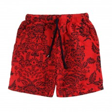 Short de Bain Long Booby Rouge