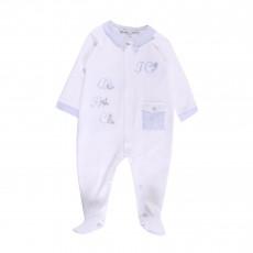 Pyjama Broderies Alphabet Blanc