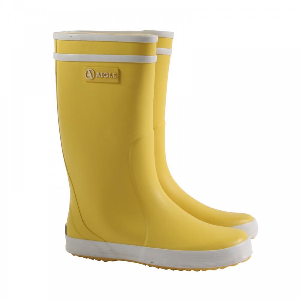 Bottes de pluie lolly pop jaune aigle chaussures enfant smallable - Bottes de pluie aigle ...